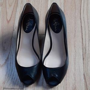Cole Haan Black Peep Toe Heels
